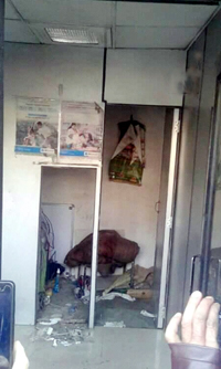State Bank of India ATM Machine stolen in South Kashmir's Bijbehara area last night.