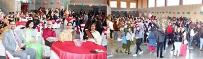 Dignitaries and Alumni during Alumni Meet at Jodhamal Public School in Jammu on Saturday.