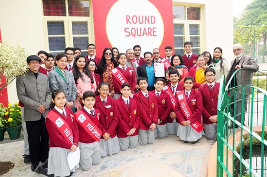 Students Council of KCPS posing along with dignitaries during the inauguration of Round Square Centre.