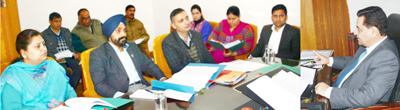 Secretary Information Department Dr Abdul Rashid chairing meeting of officers at Jammu.