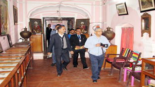 Chief Justice Badar Durrez Ahmed during visit to Dogra Art Museum on Sunday.