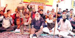 Hunger strike of differently  abled people enters 2nd day