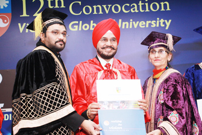 HS Paul being conferred with Doctorate Degree in Advertising at New Delhi.