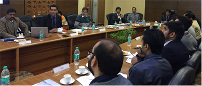 Thomas Mathew, Regional Director, Jammu RO chairing Customer Service Meeting of Foreign Exchange Department.