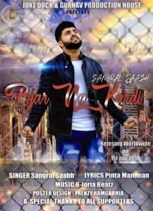 Sangral all set to release  his 2nd Punjabi song