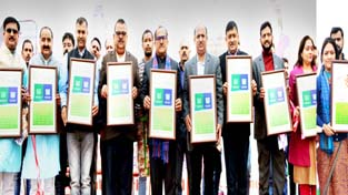 Deputy Chief Minister, Dr Nirmal Singh launching the Swachhata App on Sunday.
