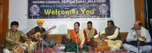 Noted singer Kailash Mehra during Music Concert organized by ICCR Jammu.