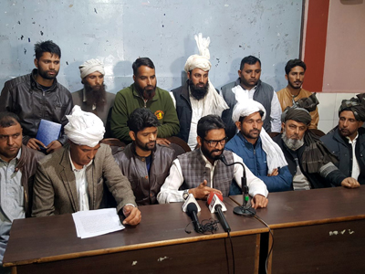 ATCC leaders addressing a press conference at Jammu on Wednesday.