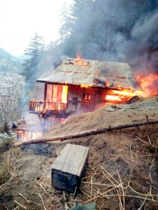 Residential house gutted, 2 cattle perish