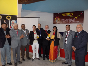 Dignitaries during Alumni Meet at MHAC Campus Nagbani in Jammu.