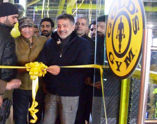 Minister for Sports, Moulvi Imran Ansari inaugurating state of art Fitness Centre in Srinagar on Saturday.