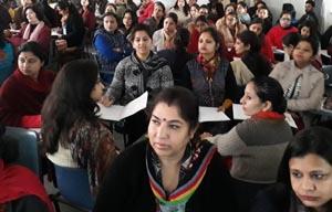 Teachers during Workshops at Jodhamal School in Jammu.