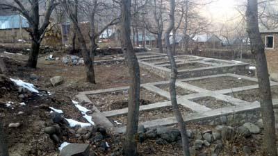 Incomplete houses at Waltengo Nard, Kulgam. —Excelsior/Sajad Dar