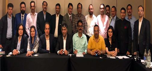 Business representatives of cross-LoC trade during a meeting at Bangkok on Saturday.