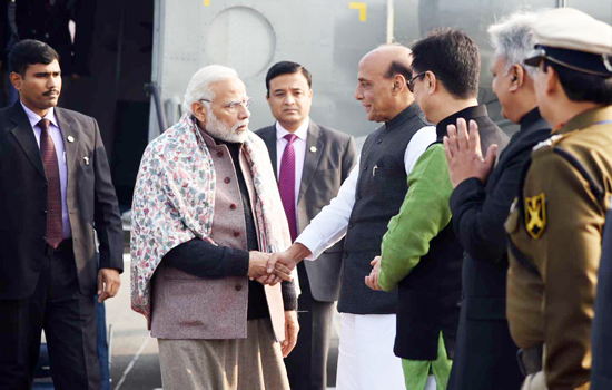 Modi, Rajnath review security with top brass of police