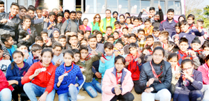 J&K Speedball contingent posing for a group photograph after emerging overall champions in 9th Federation Nationals.