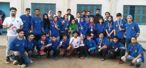 J&K Pencak Silat team posing for group photograph.