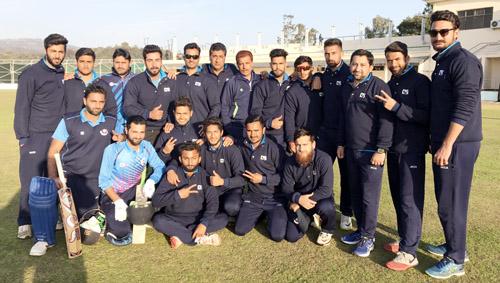 J&K U-23 team posing for a group photograph after defeating Punjab at Amtar in Himachal Pradesh.