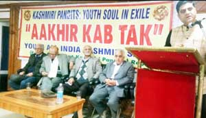 KP leaders at YAIKS interactive session at Jammu on Sunday.