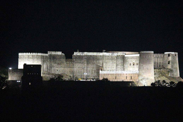 Bhimgarh Fort during night hours. -Excelsior/Romesh Mengi