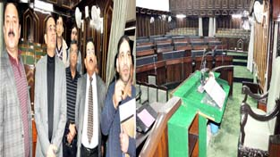 Principal Secretary to CM, Rohit Kansal inspecting arrangements for Budget Session on Monday.