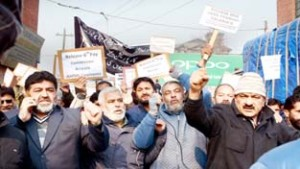 Public sector employees protest