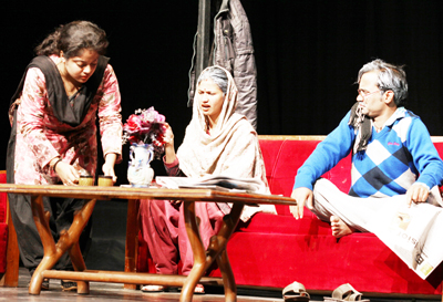 A scene from the play 'Mujhe Amrita Chahiye'. -Excelsior/ Rakesh