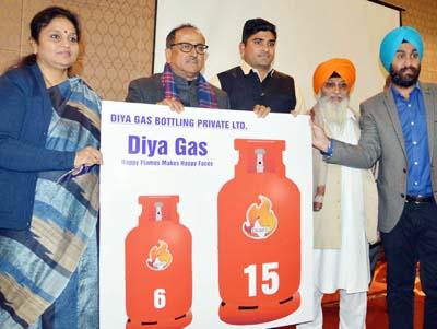 DyCM Nirmal Singh launching Diya Gas operations at Jammu on Friday.