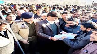 DDC Kishtwar Angrez Singh Rana during public grievances redressal camp at Nowapachi in Marwah.