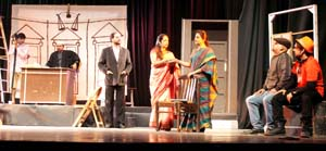 A scene from the play 'Khamosh! Adalat Jaari Hai'. -Excelsior/Rakesh