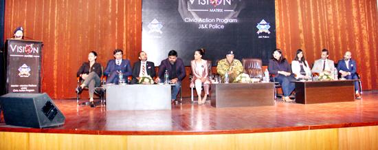 Dignitaries during launch of 'Vision Matrix' at Jammu on Friday.