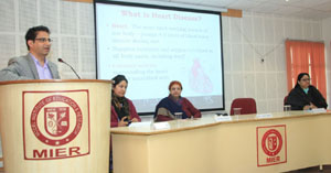 Excelsior Correspondent JAMMU, Feb 19: Shrimati Shanti Gupta Centre for Women Studies (SSGCWS), MIER organized a lecture on the theme Women and Health and the topic was