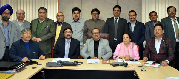 DyCM Dr Nirmal Singh at the signing of MoUs in Jammu on Thursday.