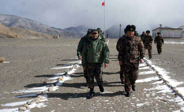 Commanders and India and China Armies at Eastern Ladakh on Tuesday.