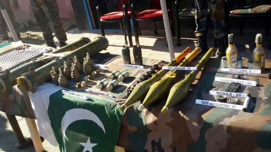 Large quantity of arms and explosives recovered by Army on LoC in Poonch. -Excelsior/Harbhajan
