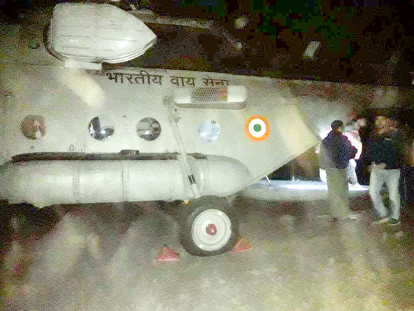 Rajouri accident victims being evacuated in IAF chopper to Jammu. -Excelsior/Bhat