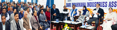 Chief Minister Mehbooba Mufti interacting with industrialists on Saturday.