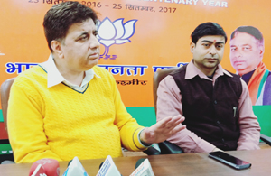 No talks with Pak till militancy ceases: BJP