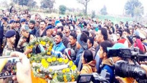 Martyr Madan Choudhary  cremated with full military honours