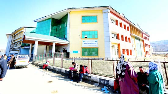 A view of District Hospital Baramulla. -Excelsior/Aabid Nabi