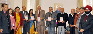 Governor NN Vohra releasing a book at Jammu on Thursday.