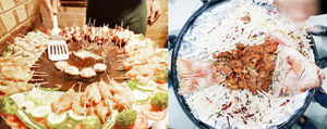 Rare delicacies of sea food being served at Barbeque Nation during food festival 'Great Grill Loot'.