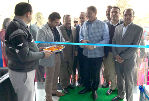 Speaker, Legislative Assembly, Kavinder Gupta inaugurating Lloyd exclusive store at Channi Himmat in Jammu.