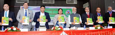 MoS for Tourism, Priya Sethi at 5th International Conference on Sustainable Destination Excellence, at JU on Friday.