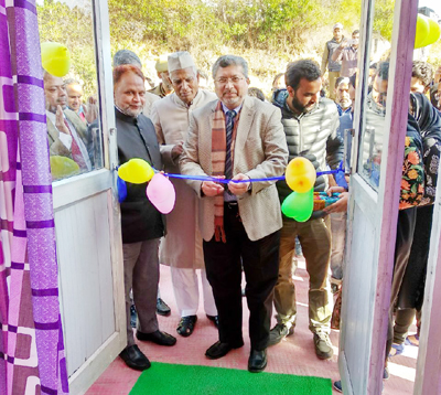 BGSBU VC inaugurating cafeteria opened in university.