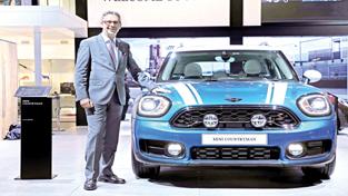 Vikram Pawah, president, BMW Group India, posing with all-new MINI Countryman.