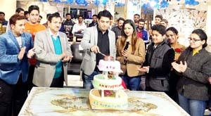 CEO, KS Furniture House, Kushal Sharma and others during celebration of 4th anniversary of the company.