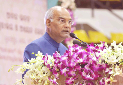 President, Ram Nath Kovind addressing at the inauguration of Anand Bhawan Museum and Learning Centre, at Cuttack, Odisha on Saturday.