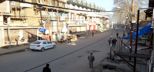 A view of bandh in Kishtwar town.