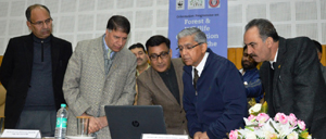 Chief Justice of J&K High Court Justice Badar Durrez Ahmed inaugurating sensitization programme at Srinagar on Sunday.